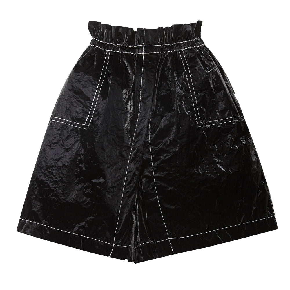 Black Shiny Culottes