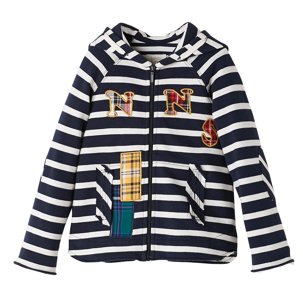 Striped Patch Hoodie