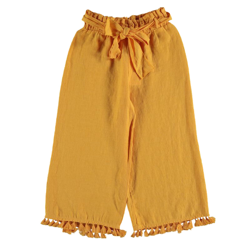 Mia Yellow Wide Trousers