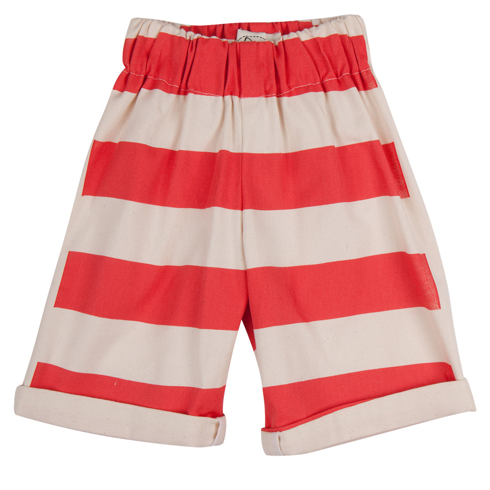 Wide Striped Shorts