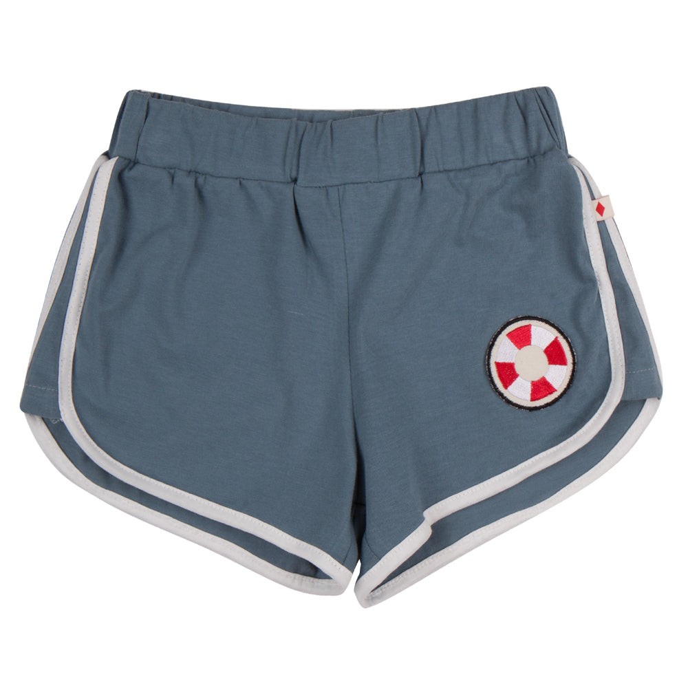 Grey Lifesaver Patch Shorts