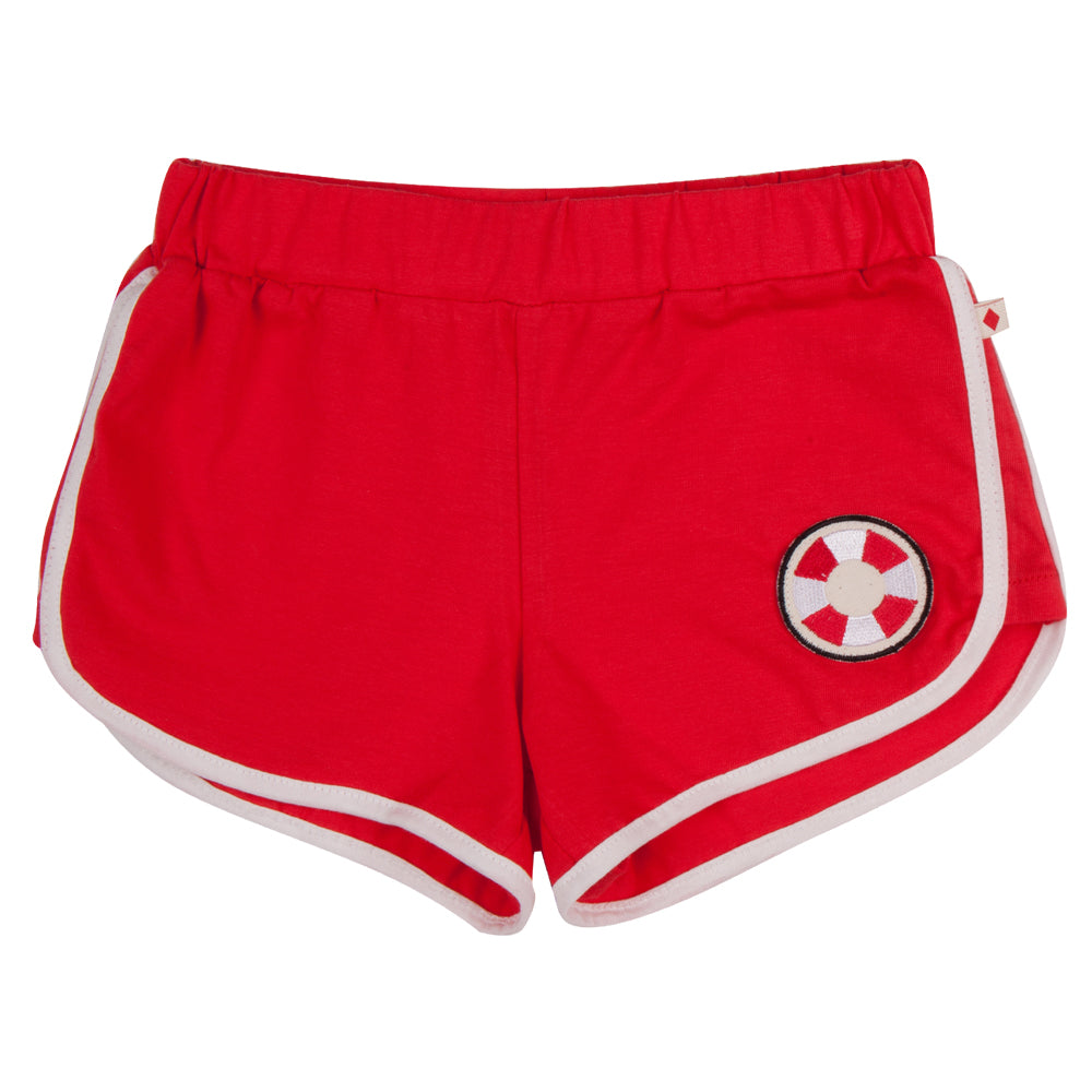 Red Lifesaver Patch Shorts