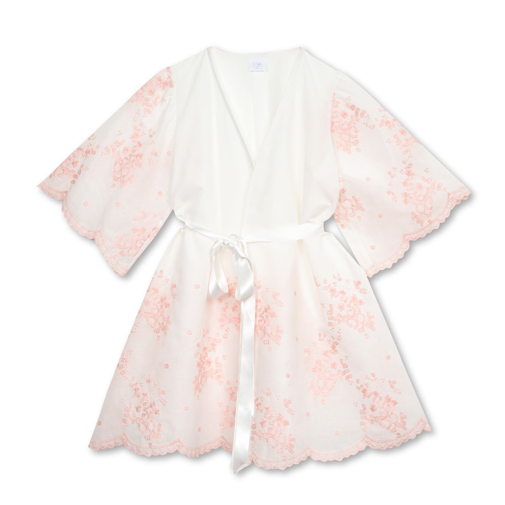 Katrina Pink Embroidered Robe