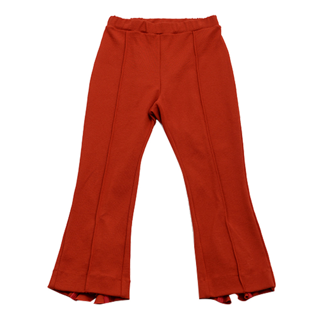 Red Flaired Frill Pants