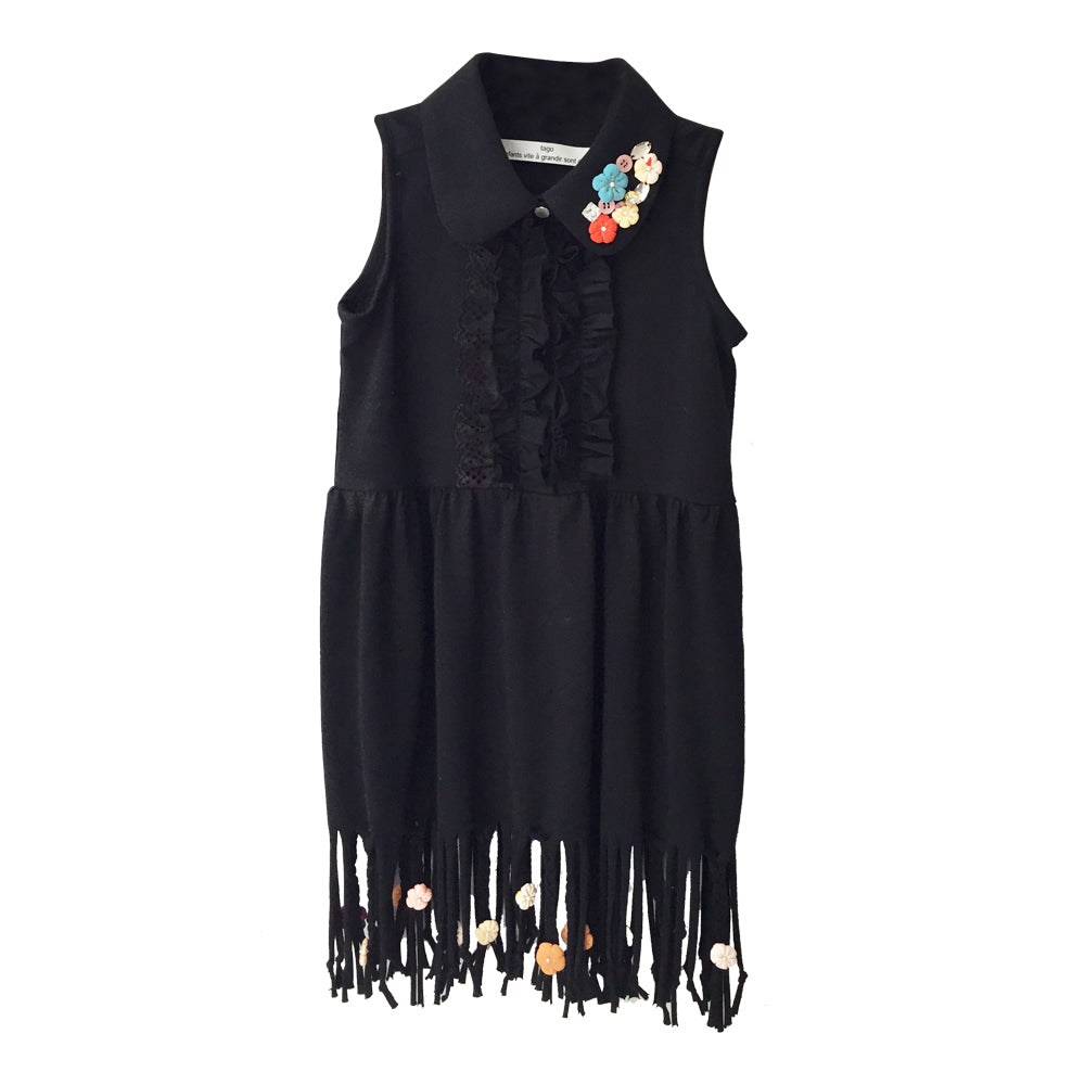 Fringed Hem Dress