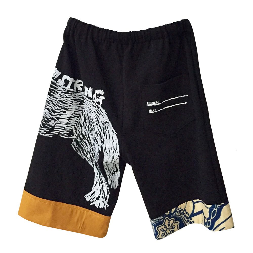 Black Strong Dog Shorts