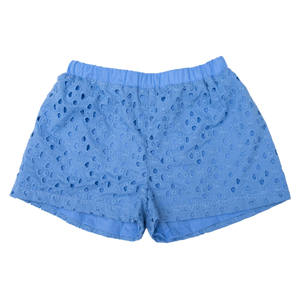 Lupina Blue Embroidered Shorts