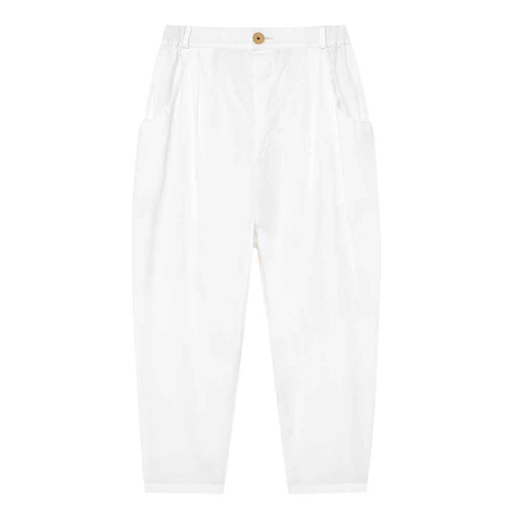 Crushed Cotton Trousers