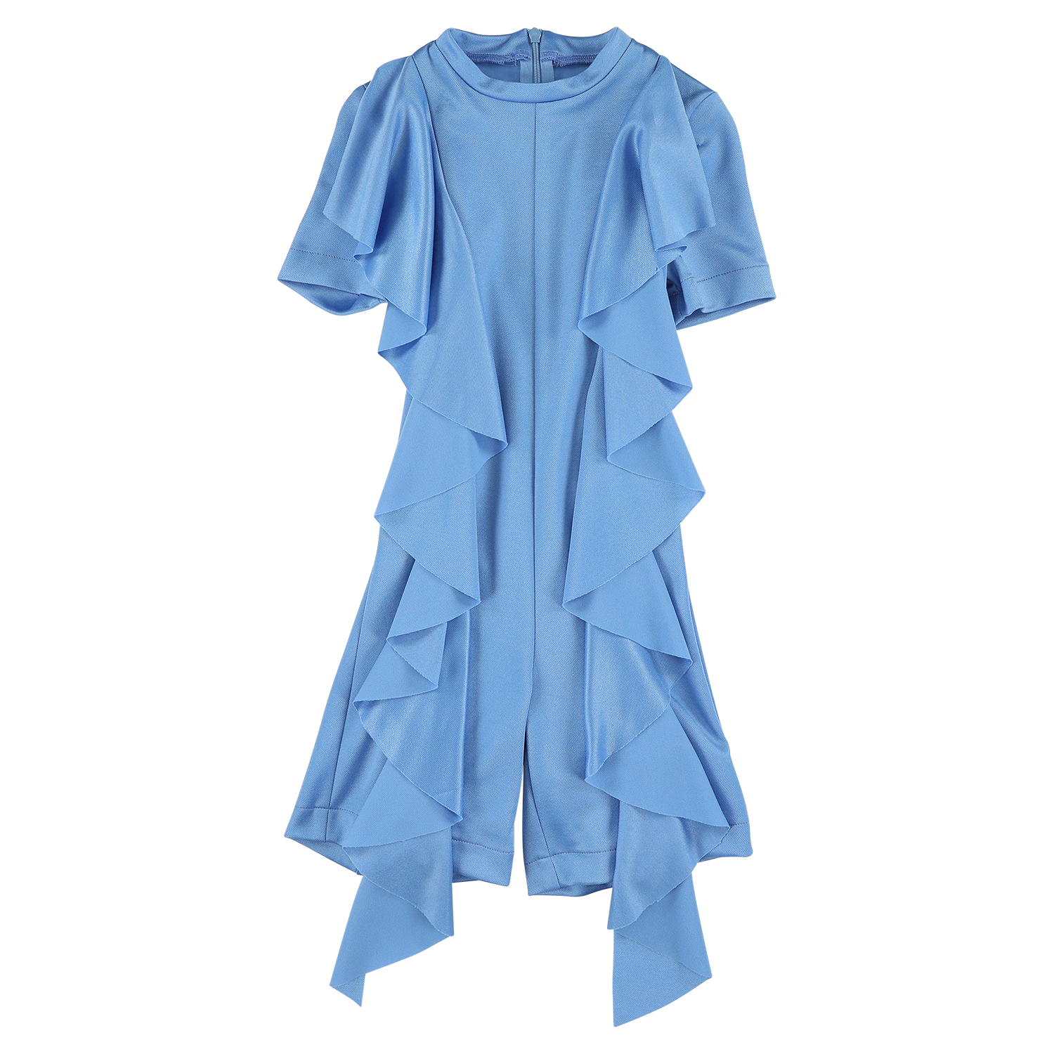 Sport Blue Ruffled Jumpsuit