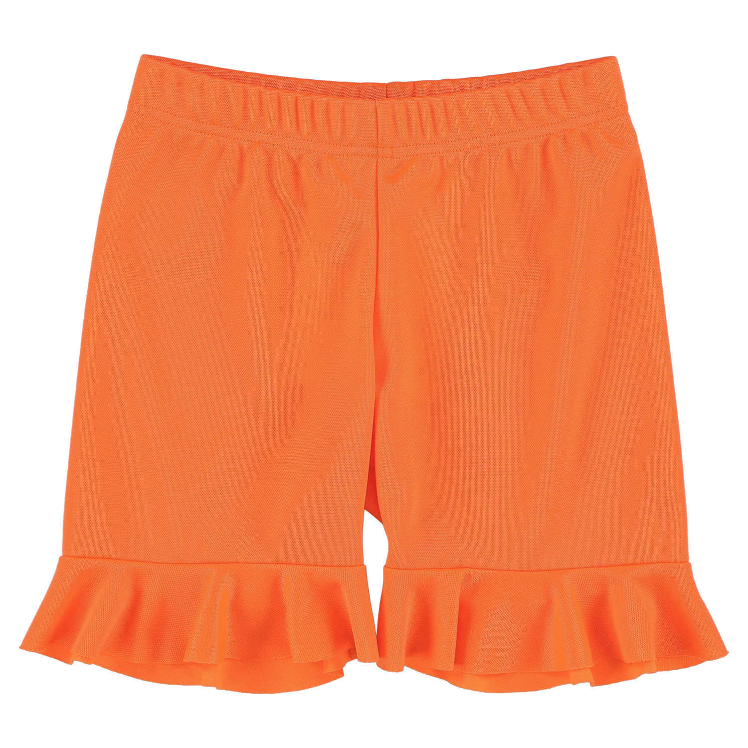 Sport Flue Orange Frilled Shorts