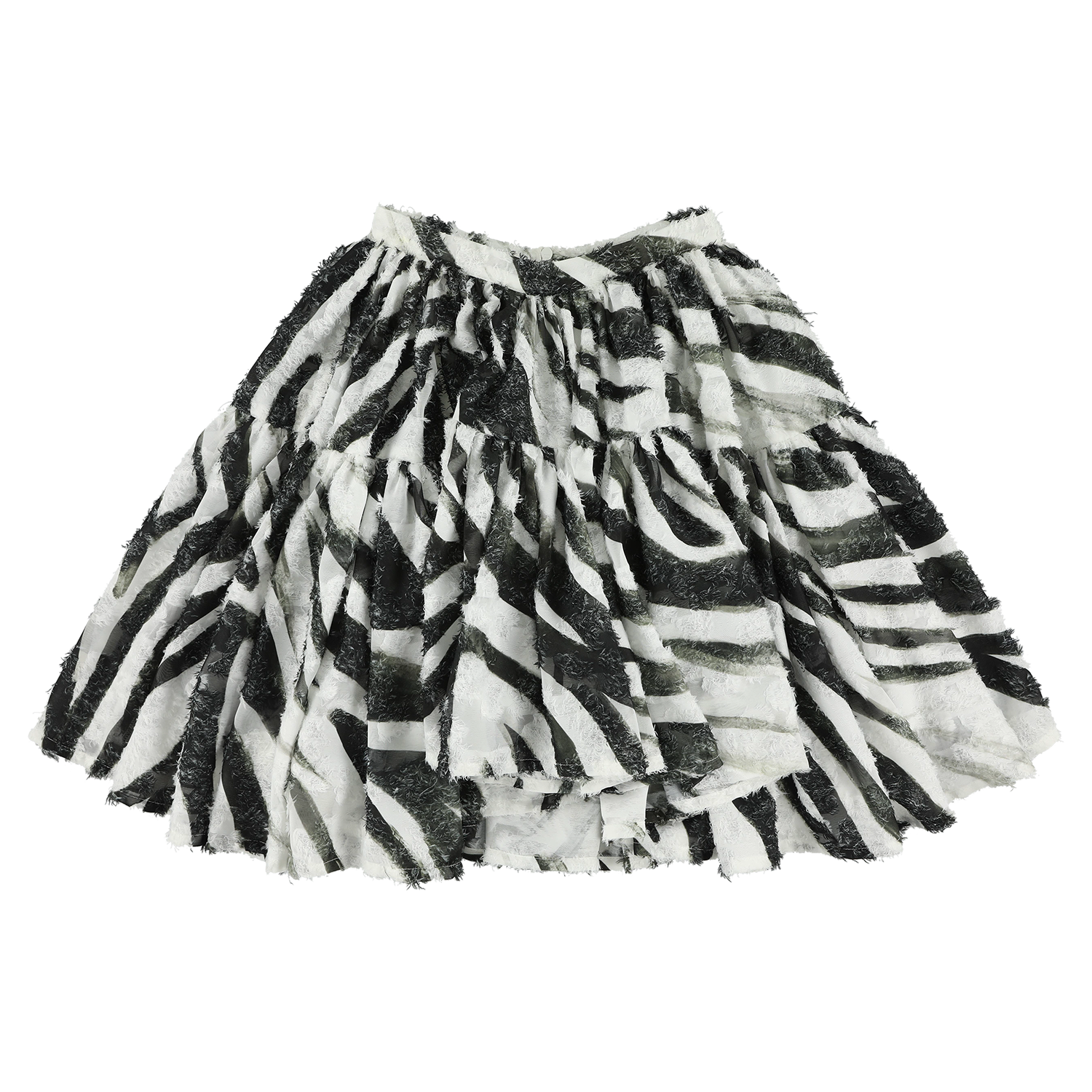 Zebra Black Maxi Wide Skirt