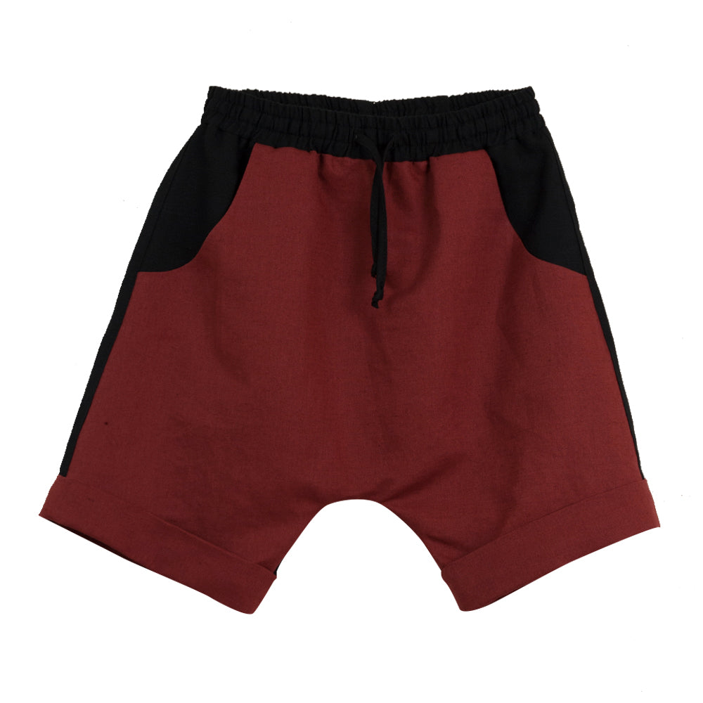 Earth Red Two Tone Bermudas