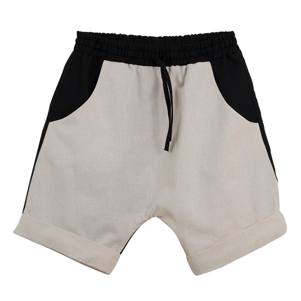 Black and White Two Tone Bermudas