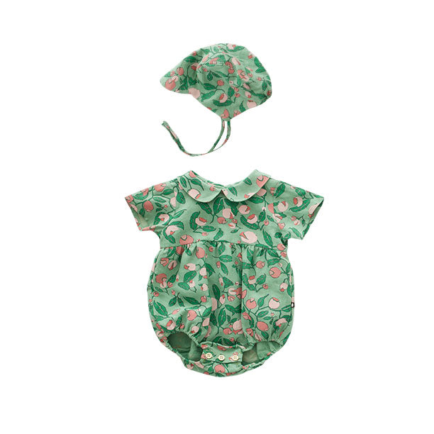 Green Flowers Visor Bonnet