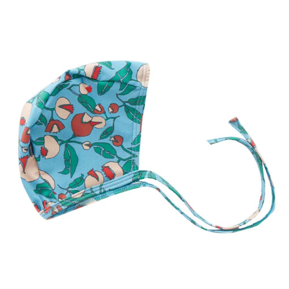 Flower Print Swim Bonnet