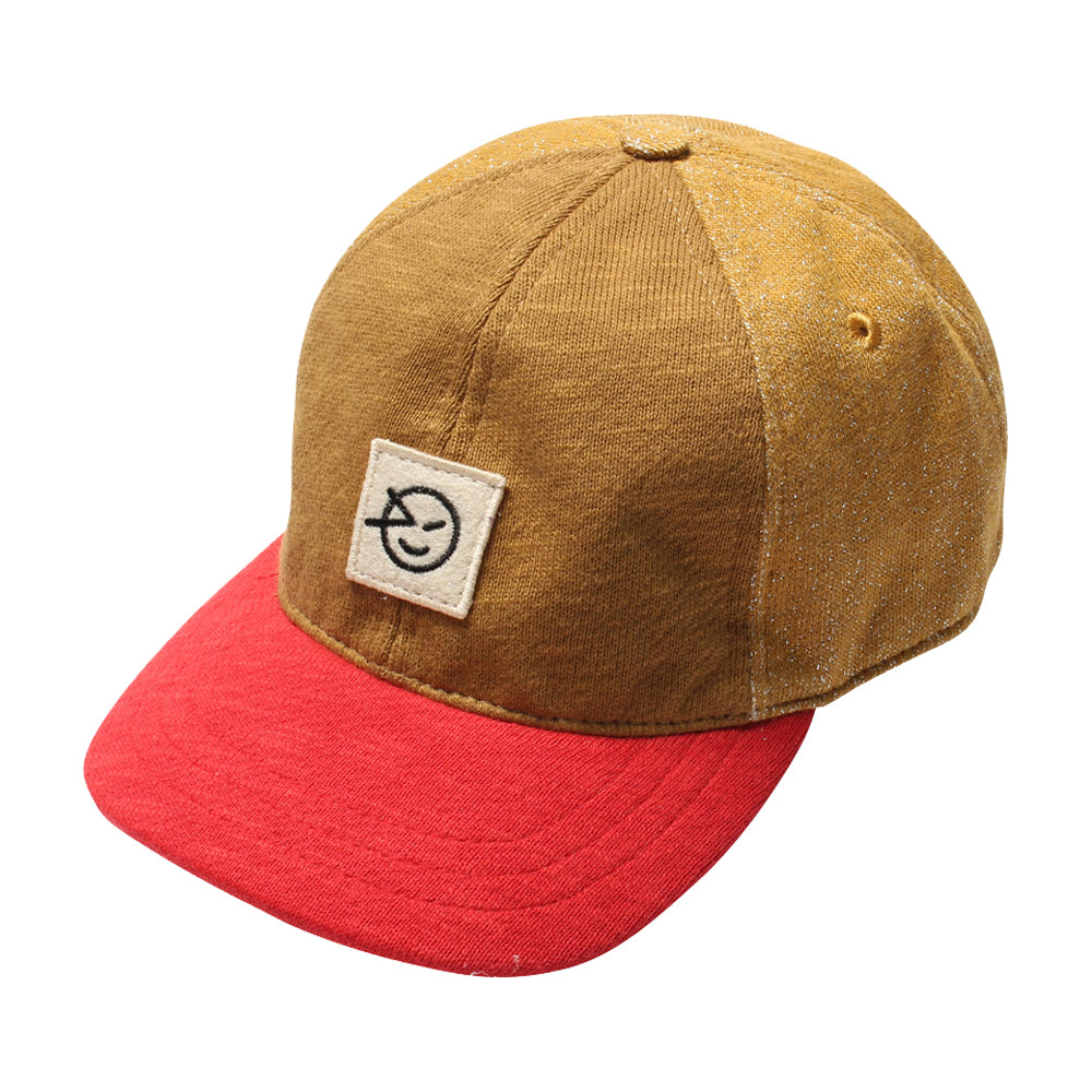 Red and Bronze Badge Cap