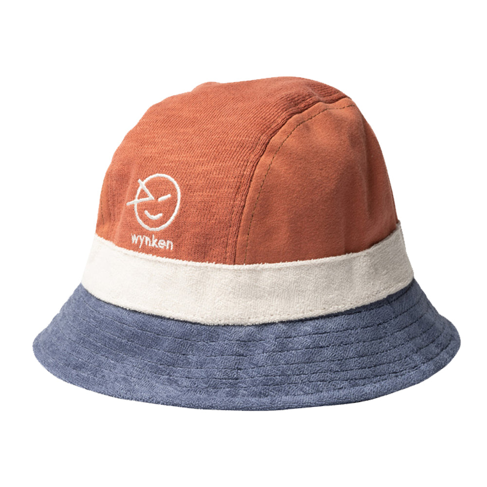 Deep Coral and Blue Havana Hat