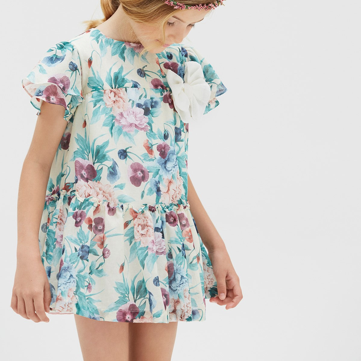 Floral Printed Tiered Dress