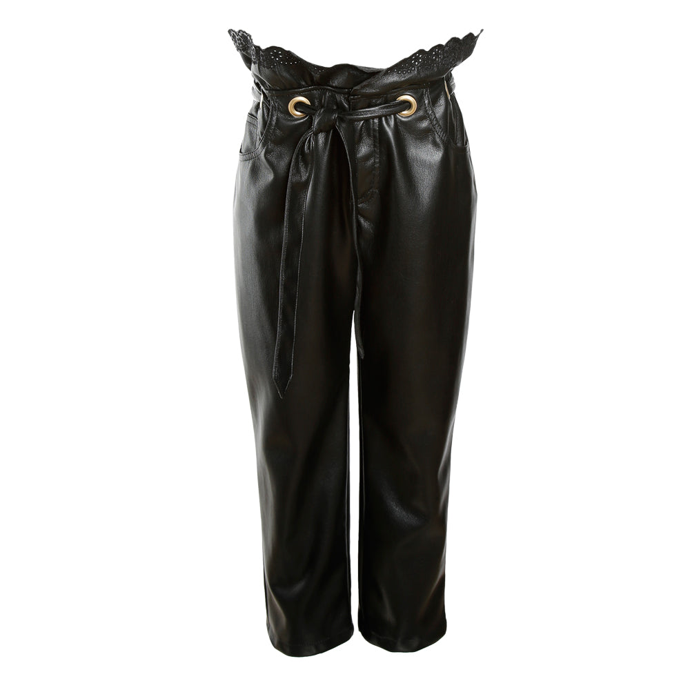 Faux Leather Philosophy Trousers