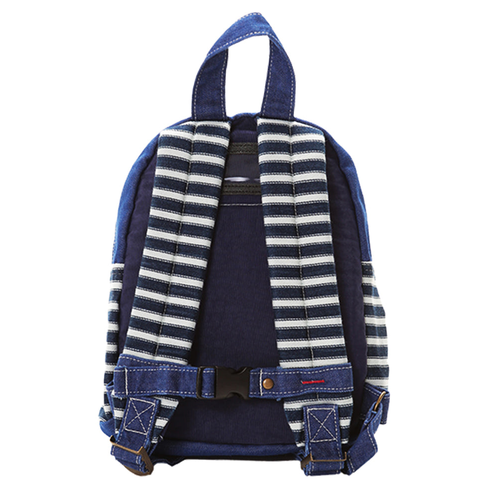 Small Navy and White Striped Crazy Backpack