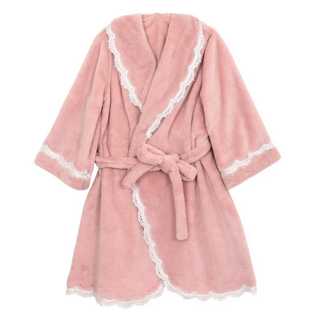 Kayla Pink Fleece Robe