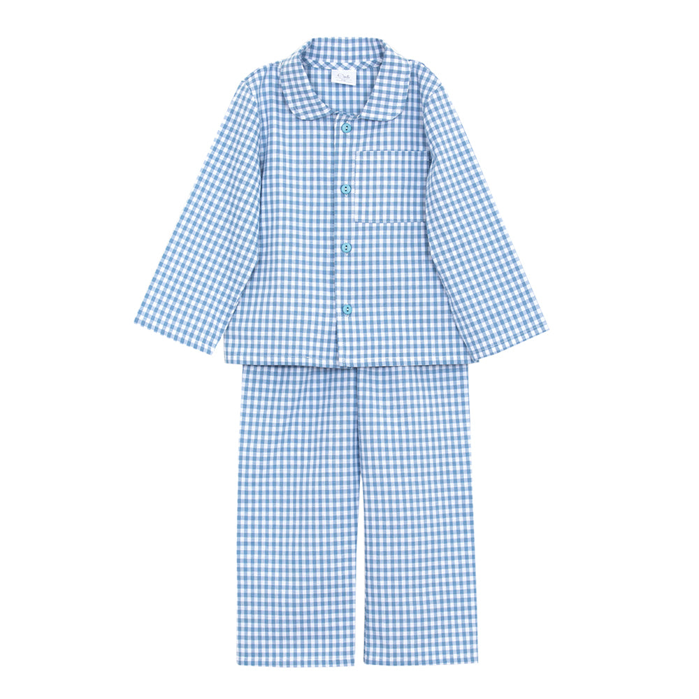 Georg Blue Checked Pyjamas