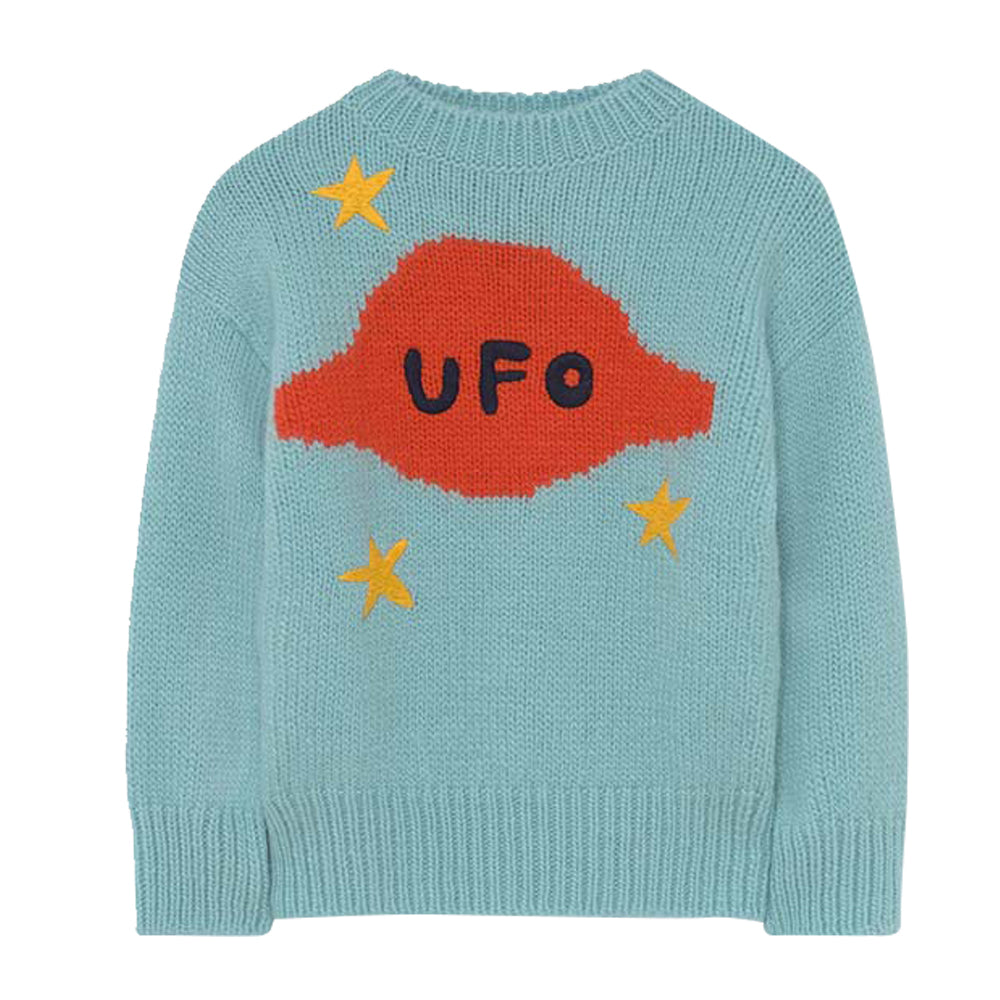 Space Bull Soft Blue Sweater