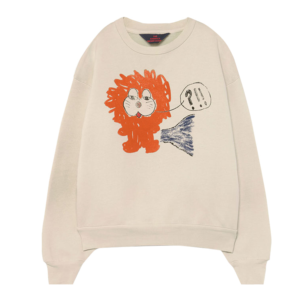 White Lion Bear Kids Sweatshirt
