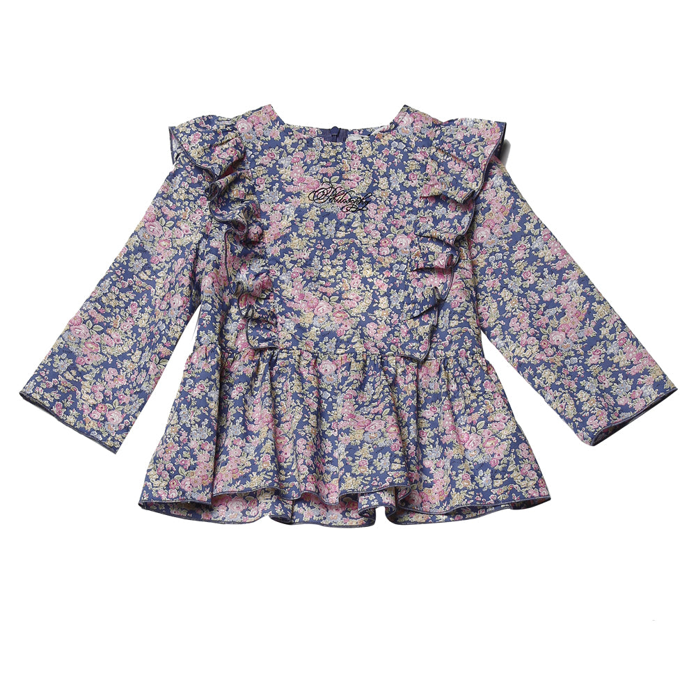 Liberty Print Ruffled Blouse