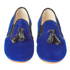 Flavio Blue Velvet Shoes
