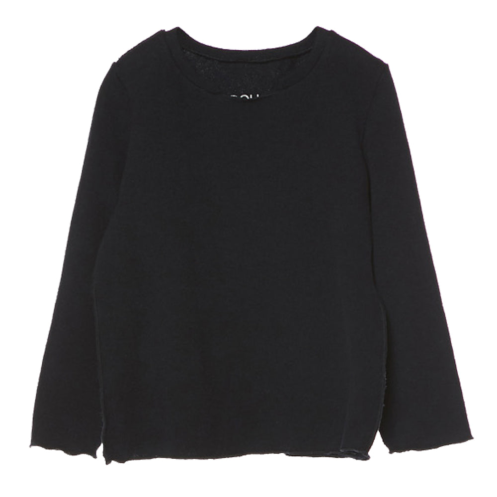 Douuod Black Knit Sweater