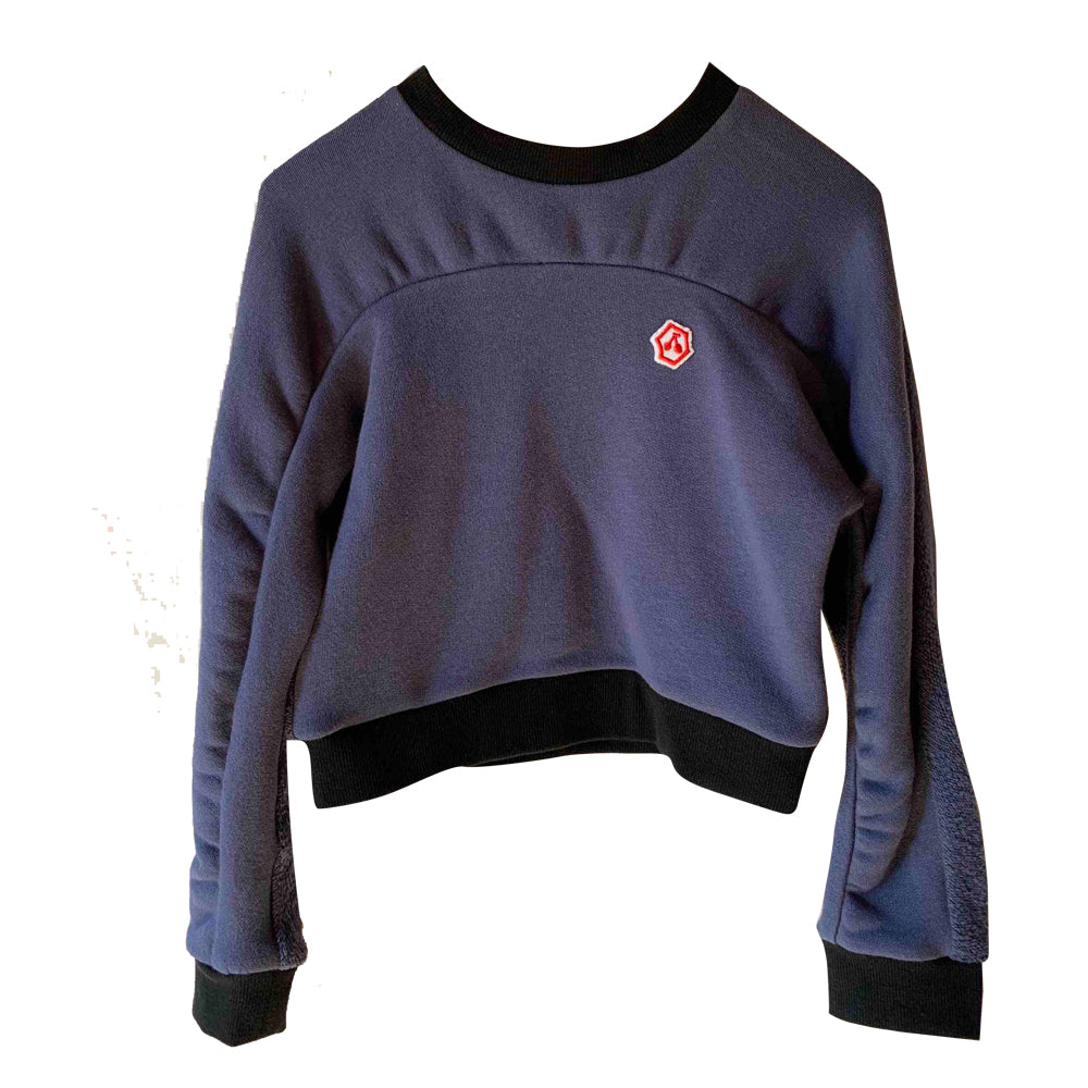 Oval Navy Warm Top