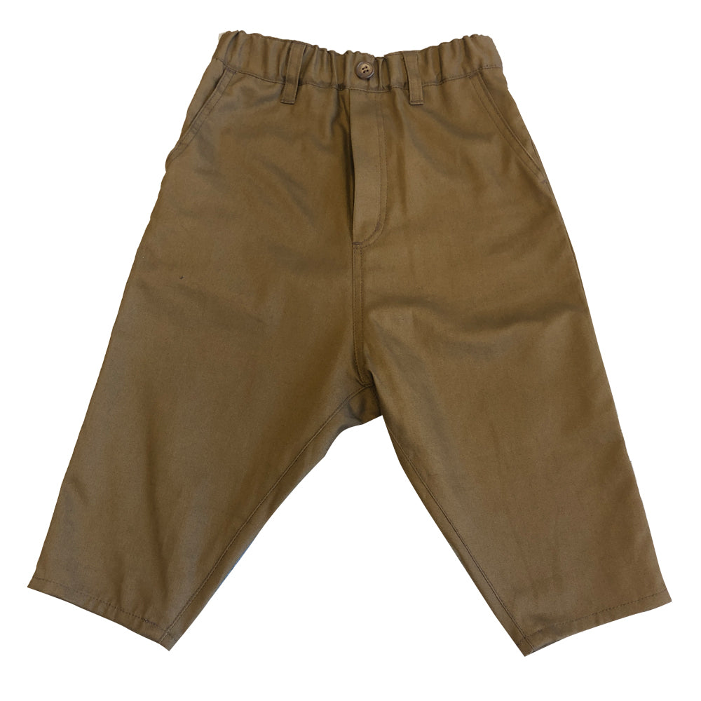 Brown Drop Crotch Pants
