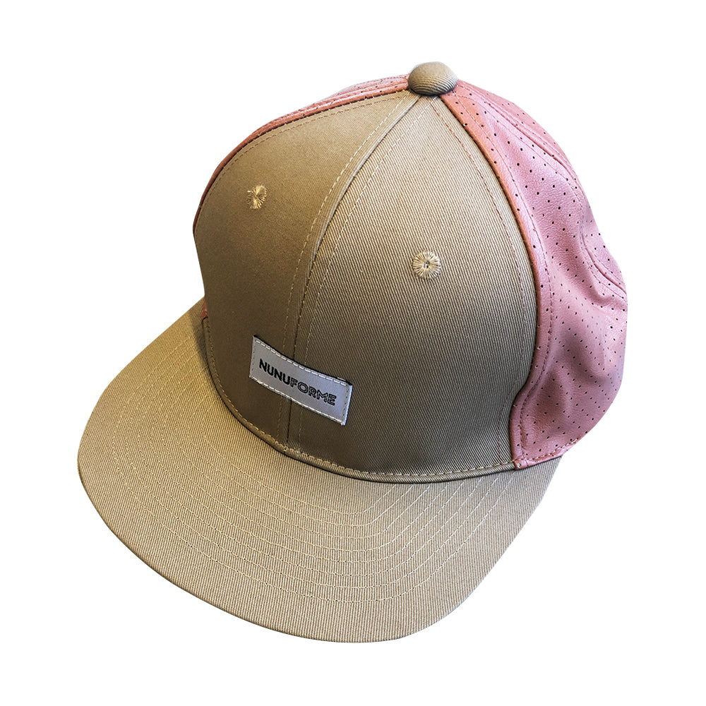 Beige and Pink Cap