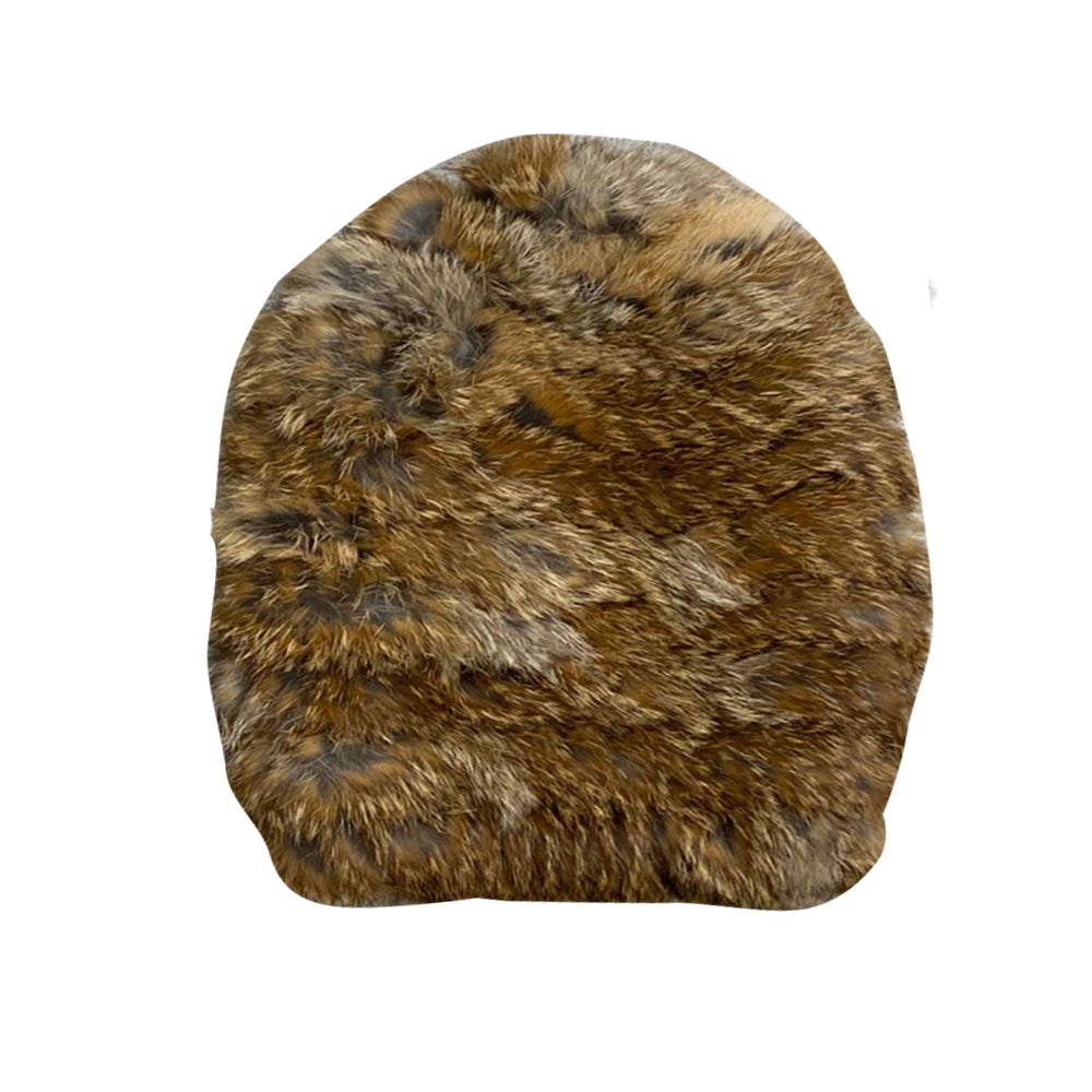 Brown Rabbit Fur Hat