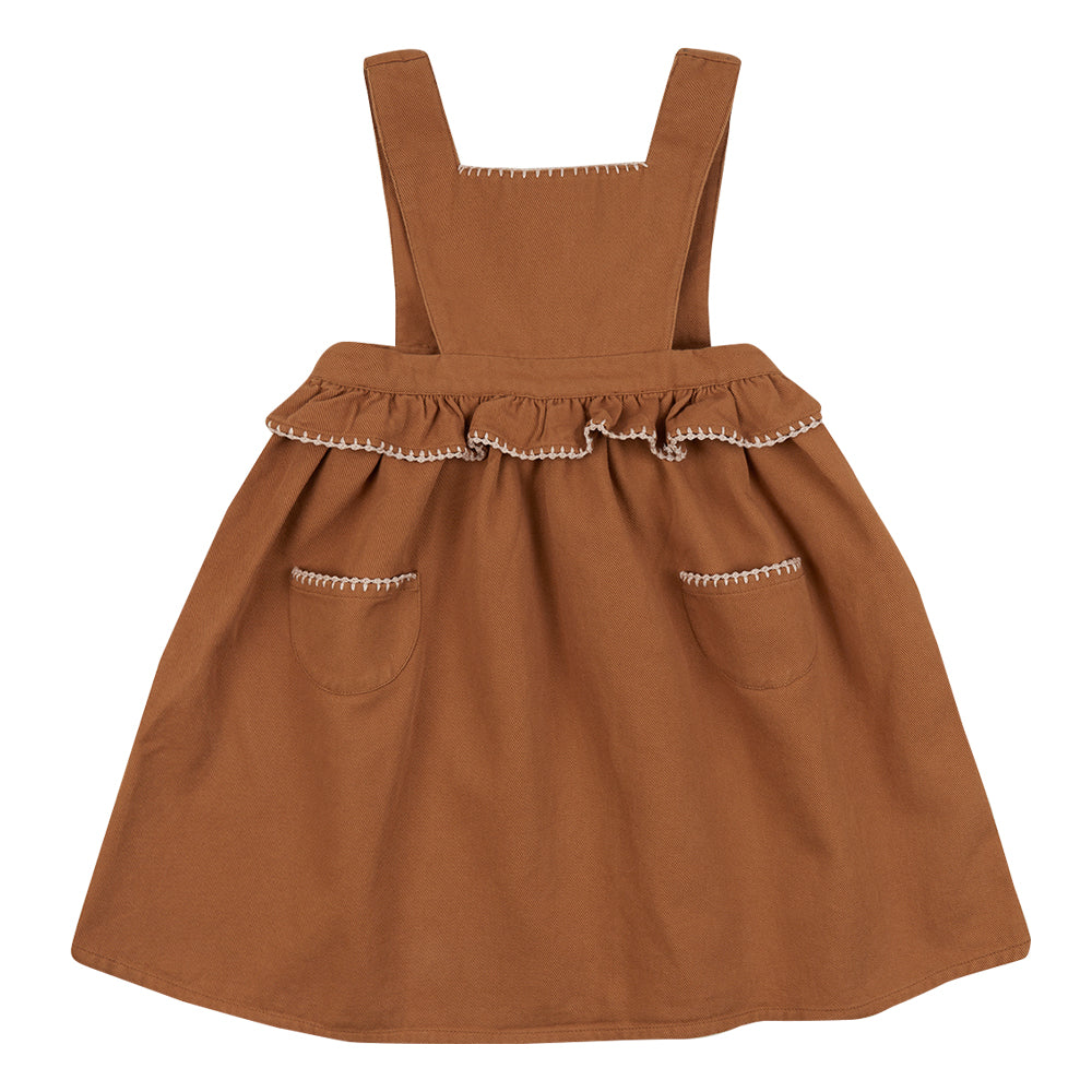 Ursina Sand Pinafore Dress