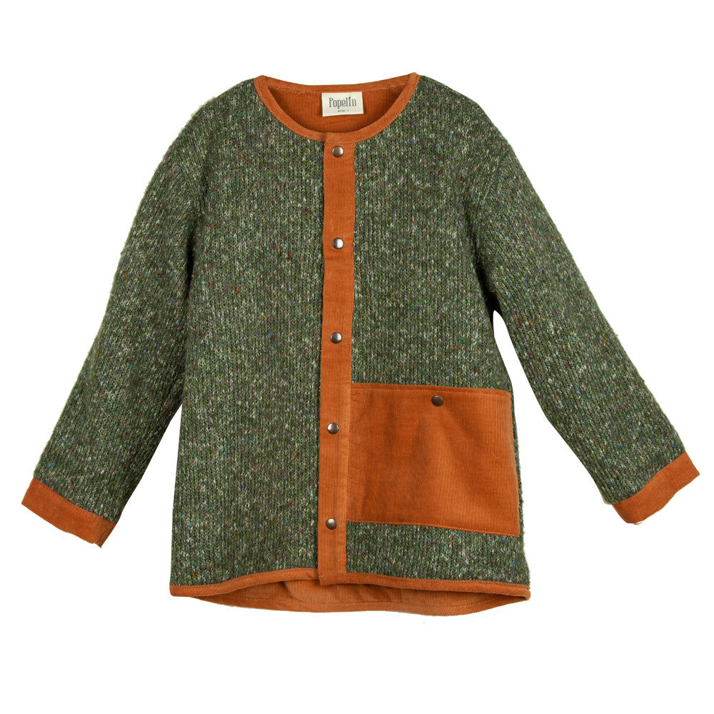 Green Overshirt Cardigan