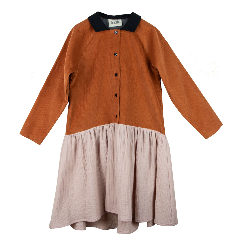 Raglan Sleeve Orange Dress