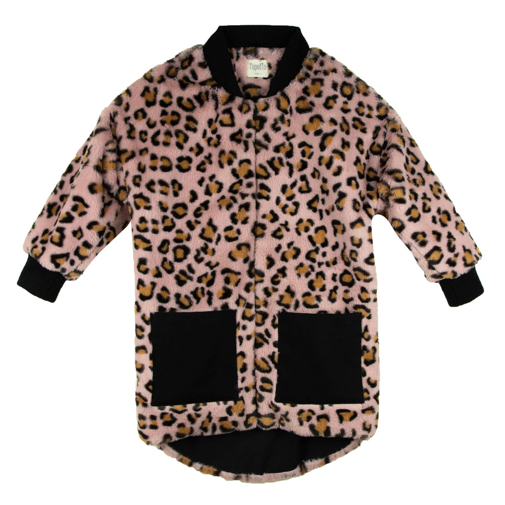 Animal Print Faux Fur Coat