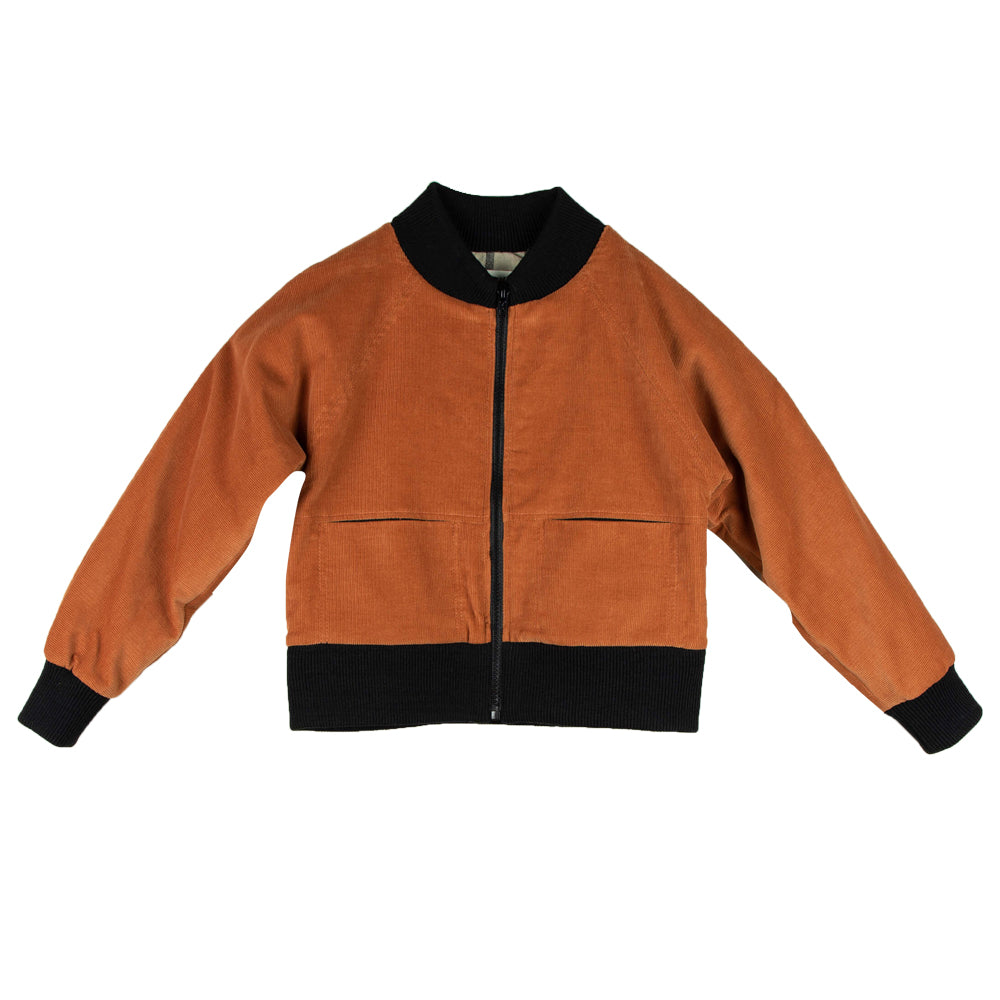 Orange Knitted Jacket