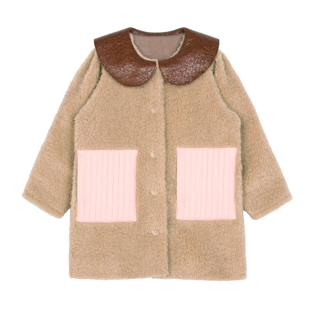 PREORDER: Beige Collared Jacket