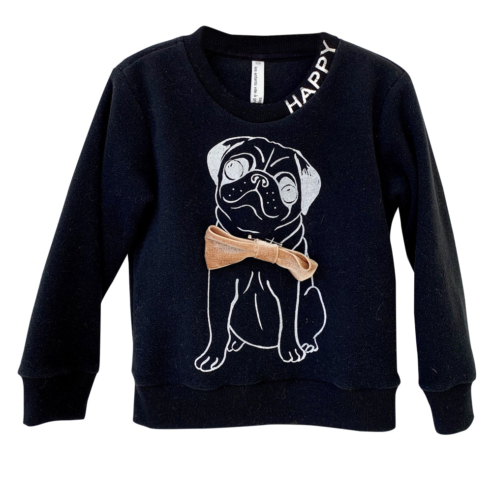 Black Happy Dog Sweatshirt