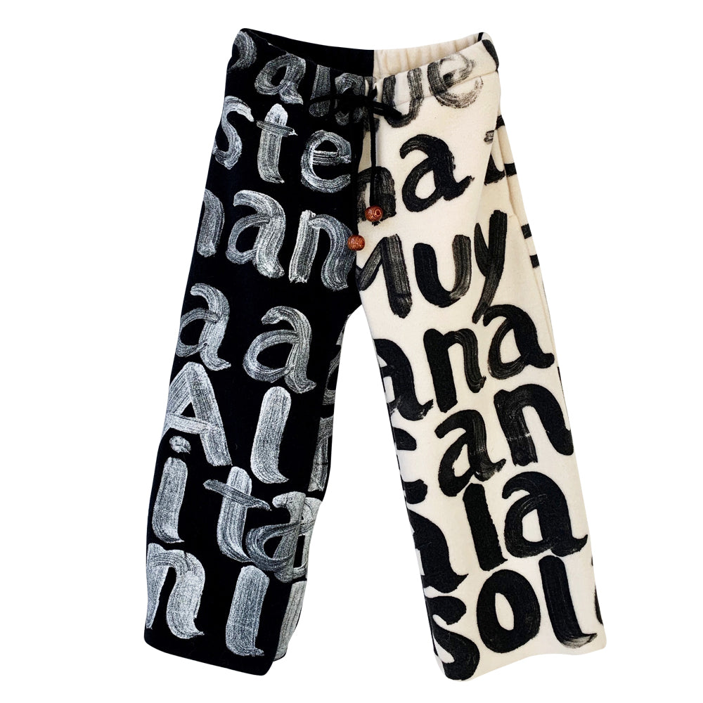 Bicolor Scribble Pants