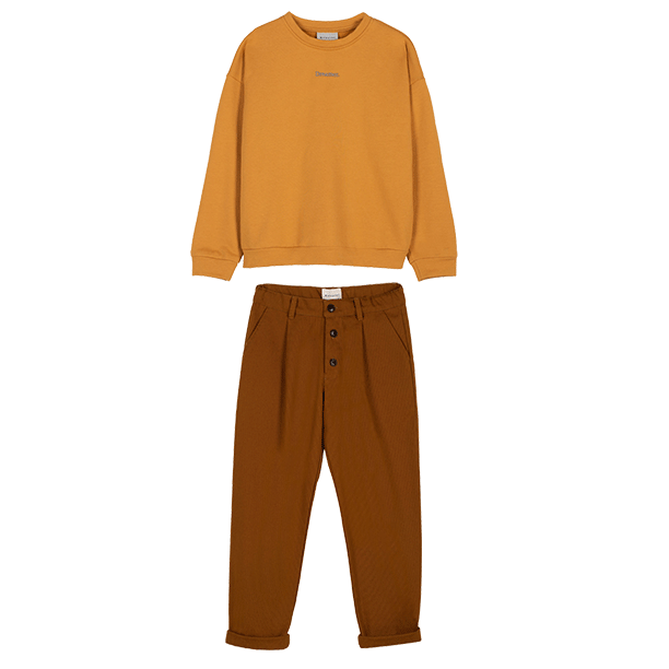 Loneta Brown Canvas Pants