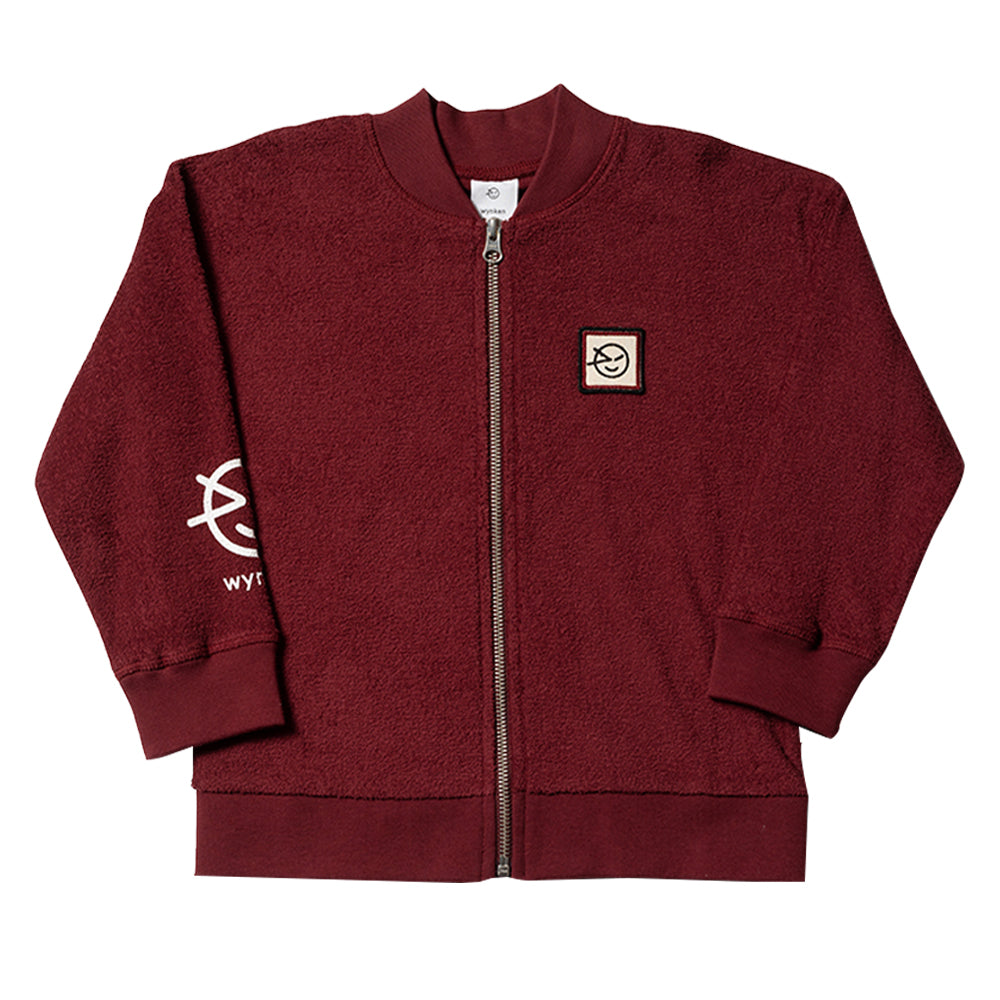 Modern Burgundy Terry Track Top