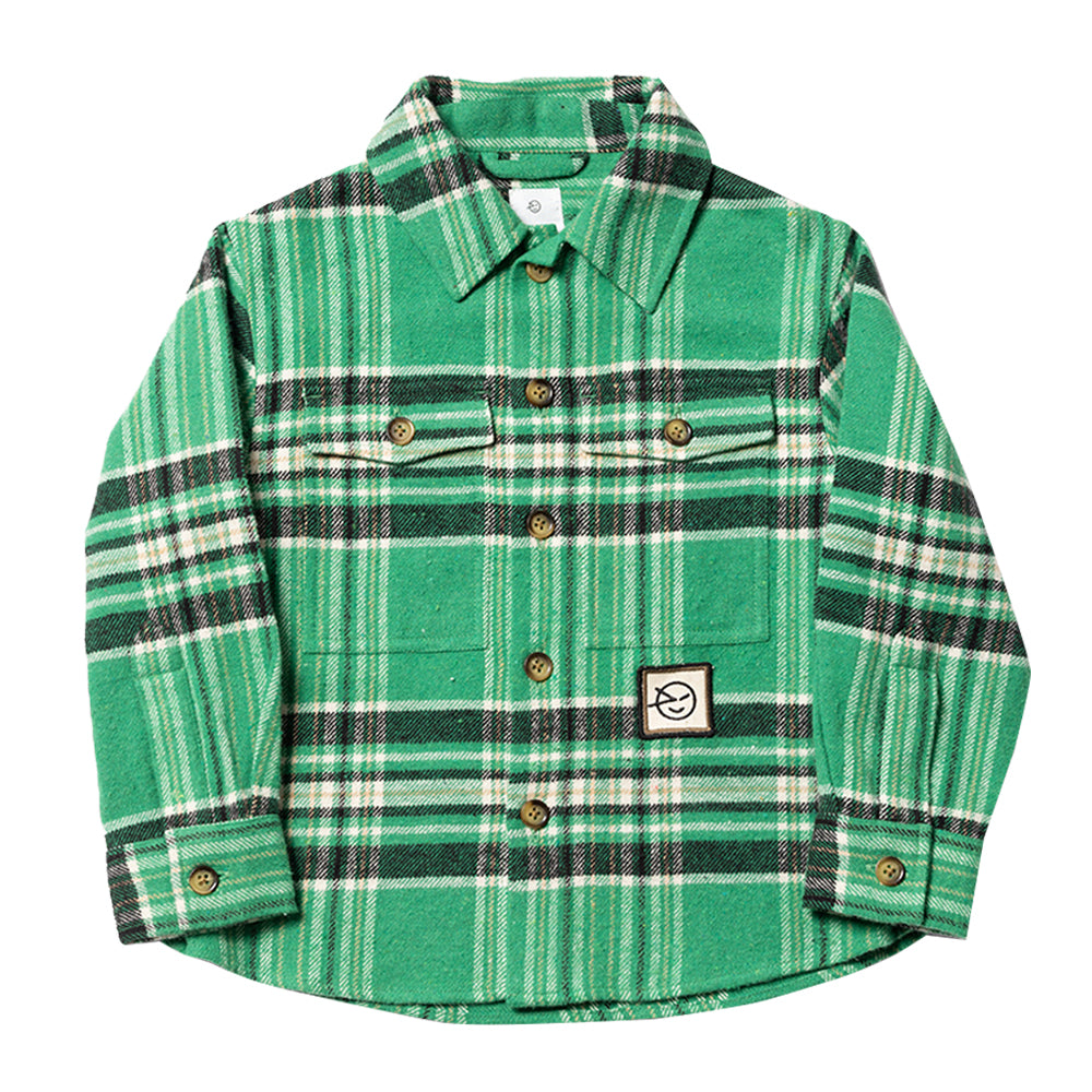 Fiesta Green Plaid Overshirt