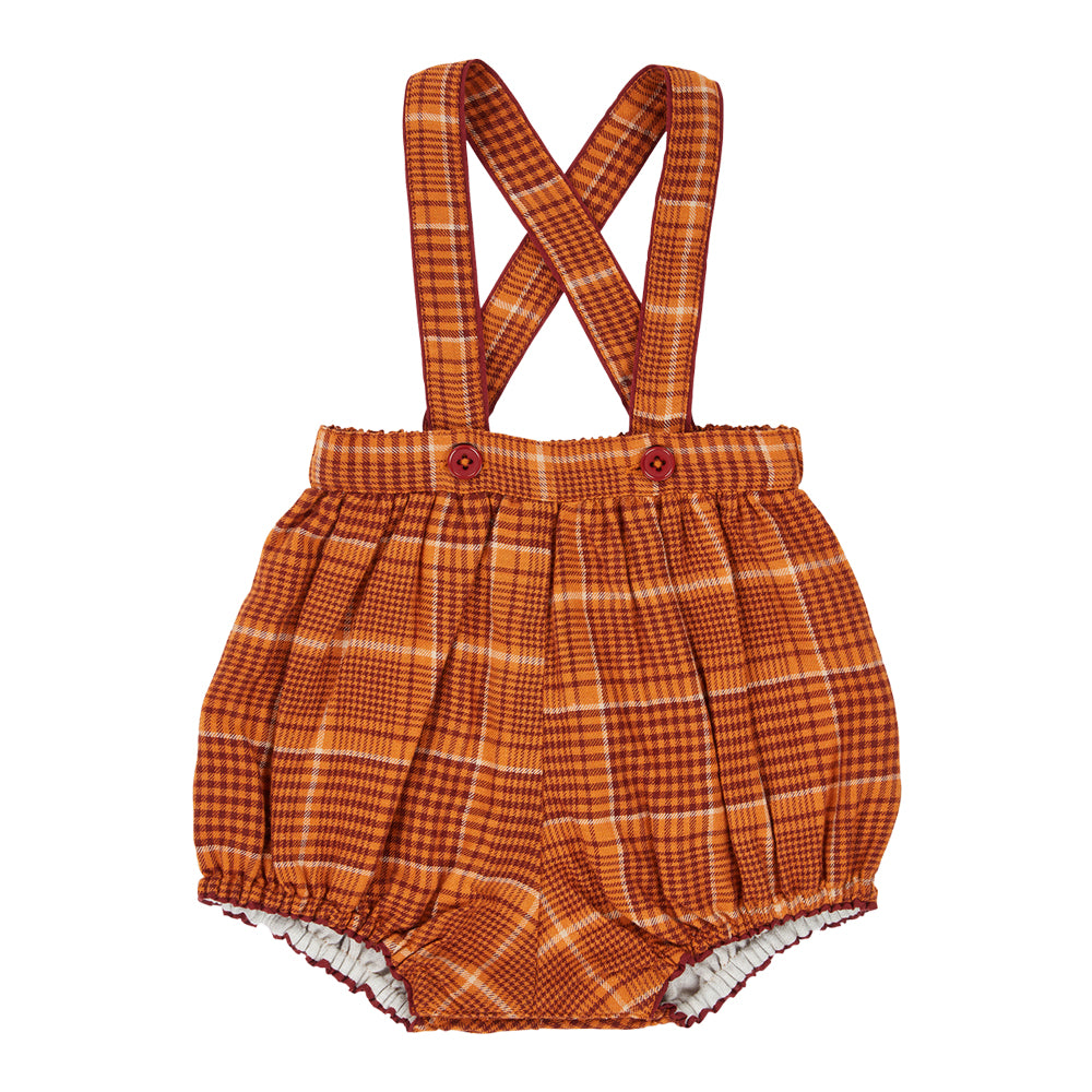 Dunlin Orange Baby Romper