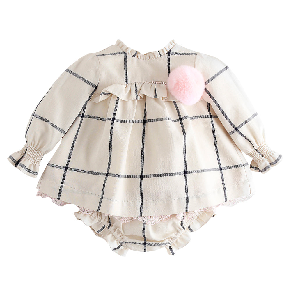 Checked Baby Dress