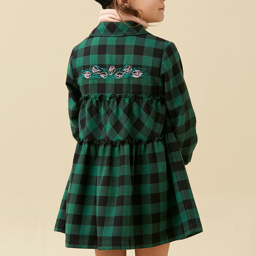 Green Checked Dress