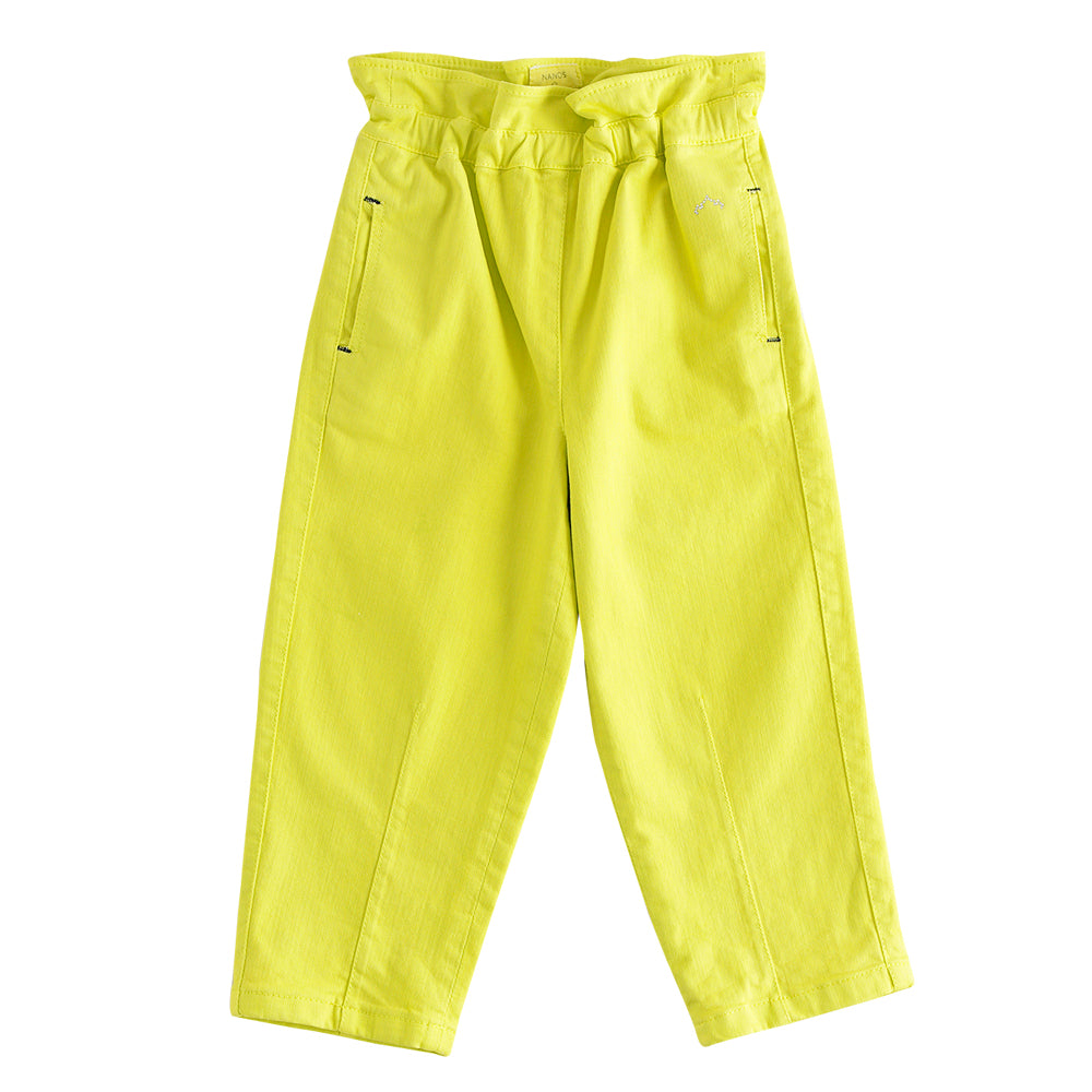 Fluo Yellow Wide Trousers